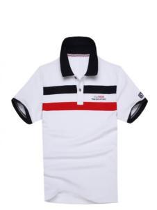 澳玛巴莎男装白色修身T恤