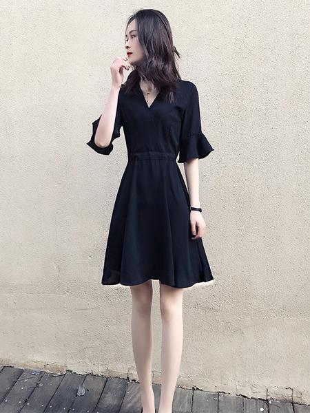 格蕾斯黑色连衣裙