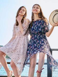 优衣美18夏新款印花裙