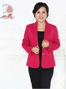 丹琪女装红色宽松外套