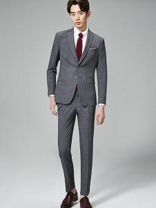 法派特男式深灰色休闲西装套装