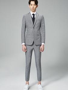 法派特男装灰色商务西装套装