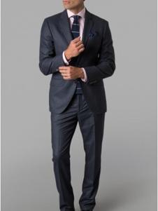 哈克特男装黑色商务西装套装