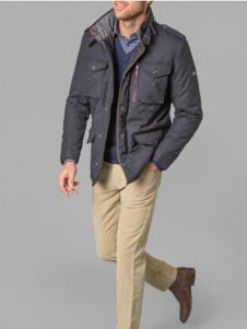 哈克特男装灰色休闲夹克