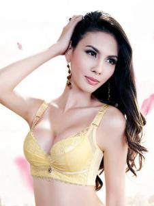 金色美泉黄色网纱文胸