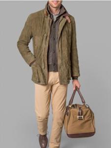哈克特男装棕色宽松夹克