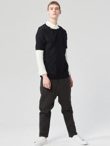 ZUEE男装新品黑色毛衫两件套系列