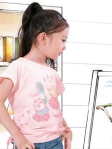 酷奇贝贝童装粉色卡通T恤