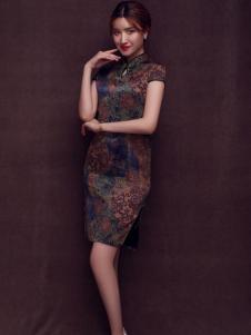 杰恩蒂女装复古修身旗袍