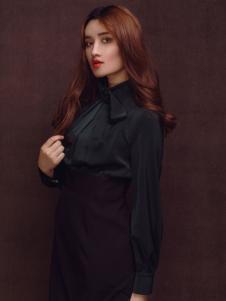 杰恩蒂女装黑色修身衬衫