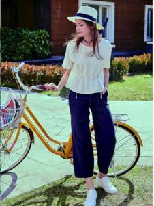青葵女裝新品白色襯衫闊腿褲套裝