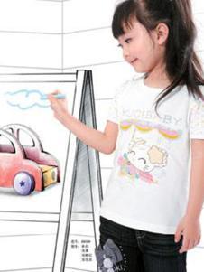 酷奇贝贝童装白色休闲T恤