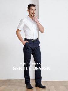 开开男装新款短袖衬衫