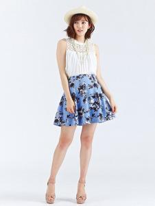 Rosebullet女装印花无袖连衣裙