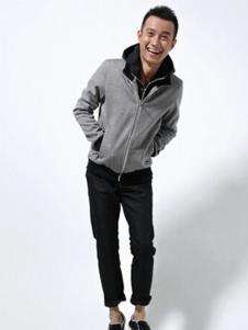 佐罗世家男装灰色休闲外套