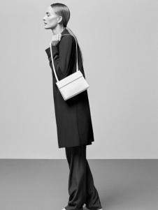 COS女装新品黑色商务大衣
