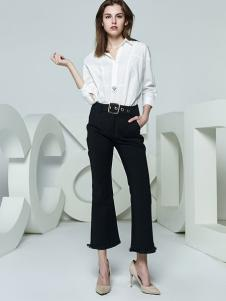CCDD女装新品白色衬衫阔腿裤系列