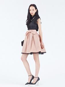 Rosebullet女装黑色蕾丝连衣裙