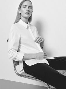 COS女装新品白色休闲衬衫