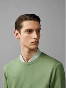 COS女装新品湖绿色男士毛衫