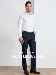 开开男装新款气质纯色衬衫