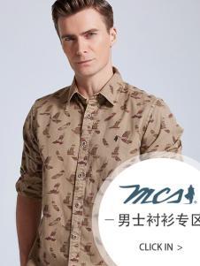 MCS万宝路新款男士休闲衬衫