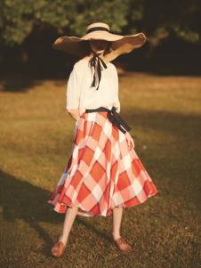 丽迪莎欧美时尚格子半身裙