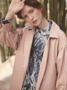丽迪莎时尚气质粉色风衣