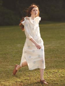 丽迪莎欧美纯棉印花中长款连衣裙