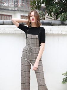 歌宝琪2018春夏显瘦休闲气质女士背带裤
