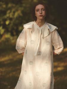 丽迪莎欧美风修身中长款连衣裙