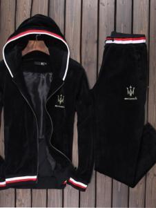 瑪薩拉帝男裝新品黑色休閑外套套裝