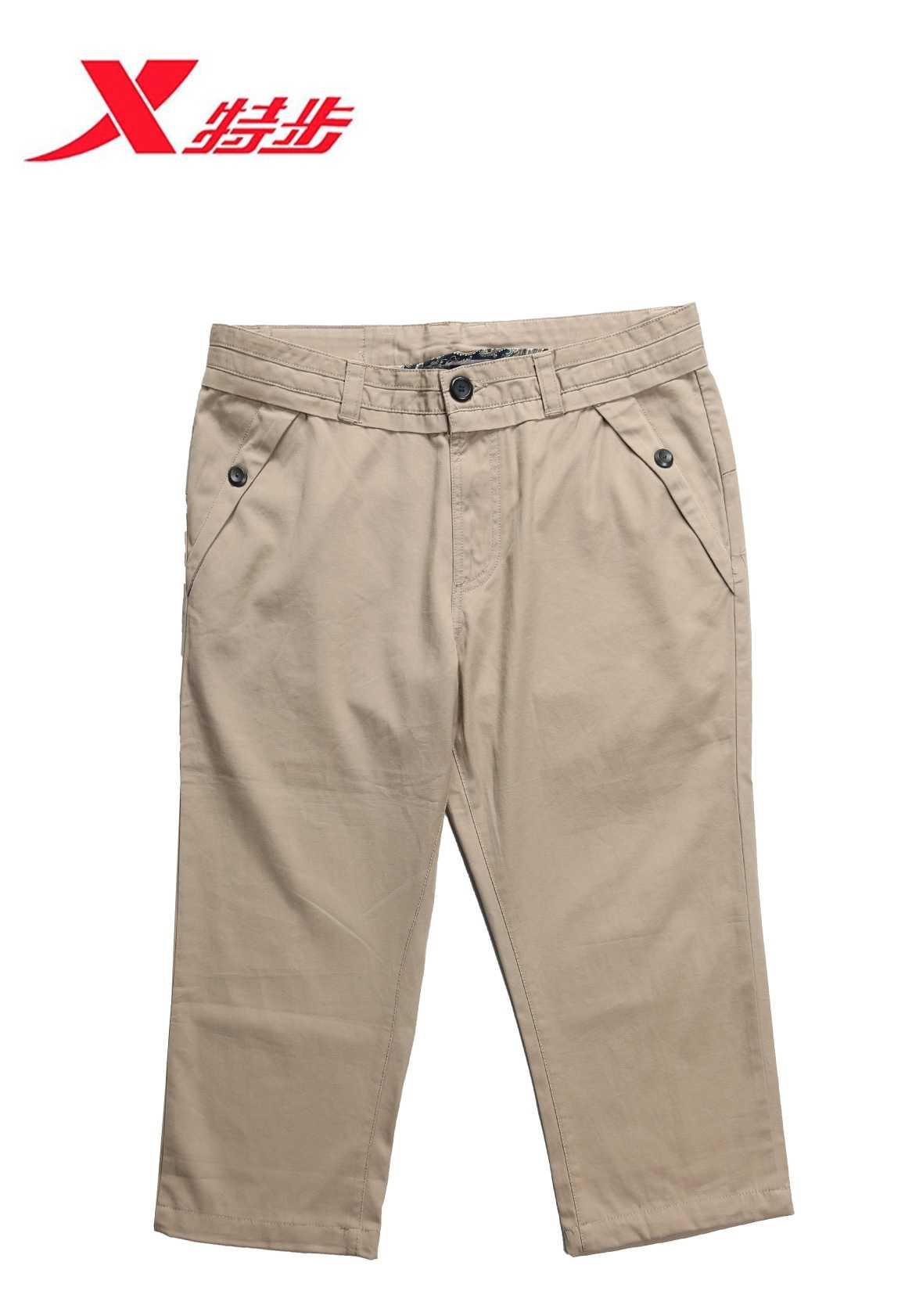 特步男式七分运动裤尾货批发|男装批发