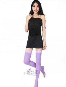 维曼姿紫色踩脚中长袜