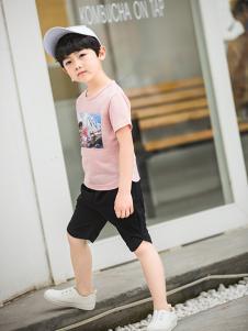淘淘猫时尚男童印花T恤