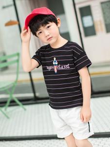 淘淘猫时尚休闲条纹T恤