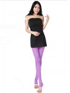 维曼姿紫色踩脚裤袜