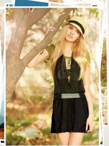 雨贝尔女装黑色网纱连衣裙