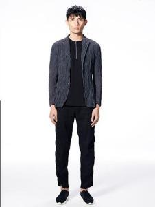 安正男装新品深灰色简单大气外套