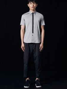 安正男装新品灰色时尚商务衬衫