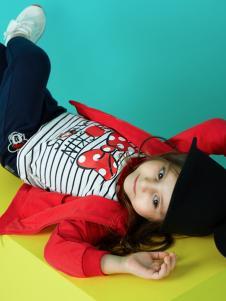 迪士尼宝宝红色外套