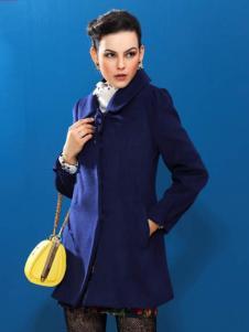 赑琪新款蓝色大衣