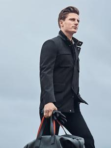 Rodrigo男裝新品黑色商務風衣