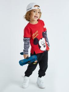 迪士尼宝宝红色米奇T恤