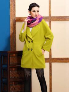 赑琪新款绿色大衣