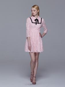 Maia Yan美言新款气质优雅蕾丝裙