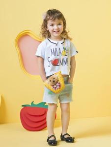 米拉熊女童T恤