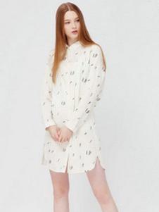 VOL.3女装白色印花衬衫