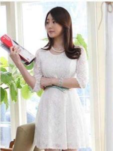 678月女装 白色蕾丝连衣裙