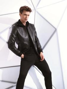 TUCANO啄木鸟新款黑色皮衣